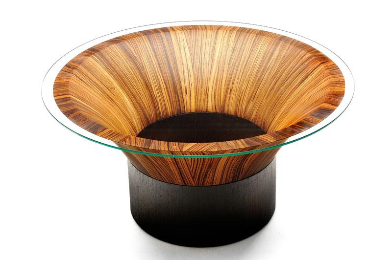 zebrano coffee table - The Alexander Workshop